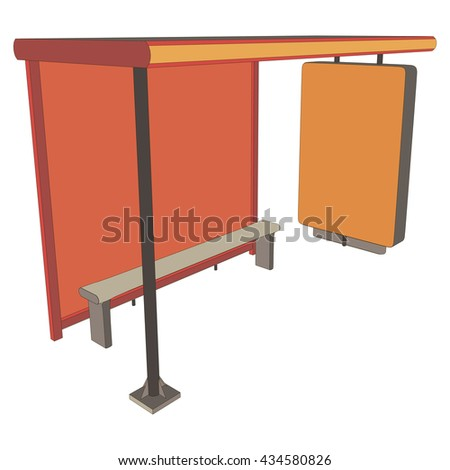 stop for transportation 3d view illustration object . Exterior Features - stock vector