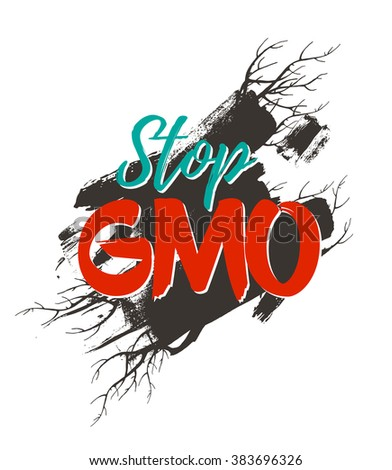 Stop GMO poster.