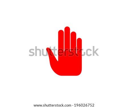 Stop hand. - stock vector