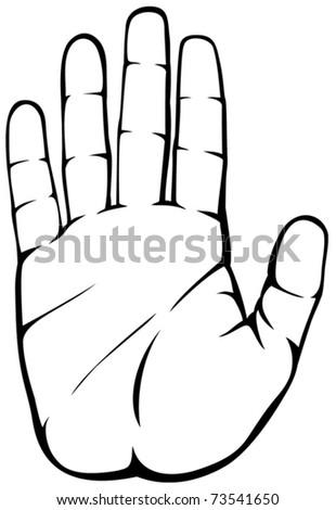 Stop Hand - stock vector