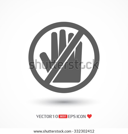 Stop Hand, icon . Vector  Eps 10  - stock vector