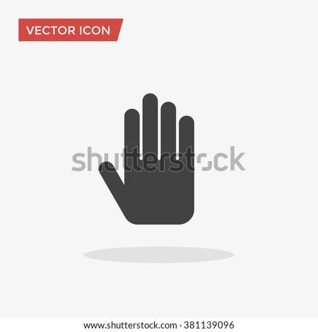 Stop hand Icon Vector,  Stop hand Icon Image, Stop hand Icon Picture, Stop hand Icon Graphic, Stop hand Icon Art, Stop hand Icon Drawing, Stop hand Icon JPG, Stop hand Icon JPEG, Stop hand Icon EPS. - stock vector