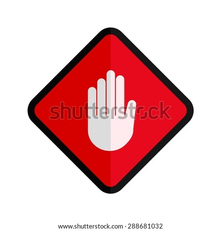Stop, hand, sign icon vectgor image. Can also be used for transport, transportation and travel. Suitable for mobile apps, web apps and print media.