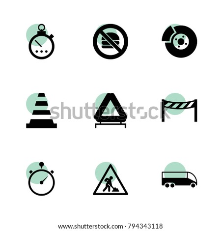 Stop Icons Vector Collection Filled Stop Stock Vector 794343118
