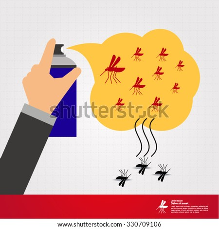 stop mosquito illustration - stock vector