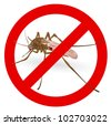 Stop mosquito sign. Vector illustration. - stock photo