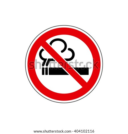 STOP! No smoking sign. Vector. The icon with a red sign on a white background. For any use. Warns. - stock vector