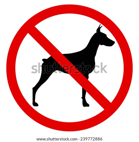 Stop, not dogs! No crossing with dog. No dog sign.  -  vector illustration you can change form and color
