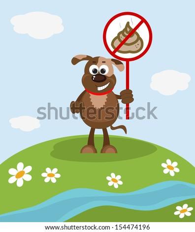 Stop Poop Sign  - stock vector