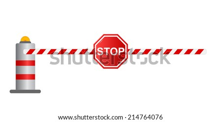 Stop road barrier, vector - stock vector
