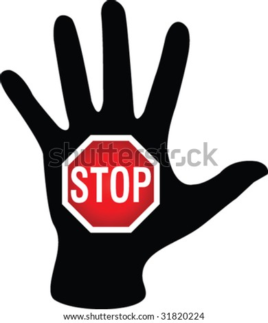 Stop sign - stock vector