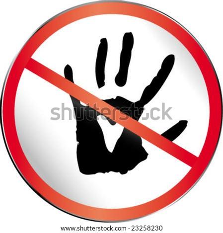 Stop sign. Concept: forbidden love - stock vector