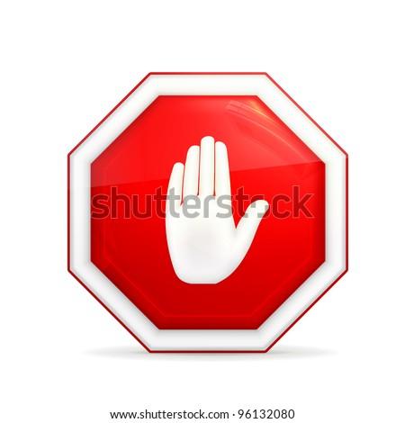 Stop sign, vector - stock vector