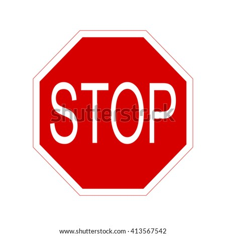 Stop sign.Vector icon