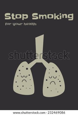 stop smoking - stock vector
