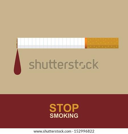 Stop Smoking, Eps 10 vector design - stock vector