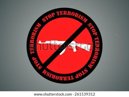 Stop Terrorism - vector - stock vector