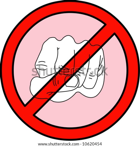 stop Violence - stock vector