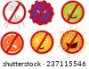 Stop virus - stock vector