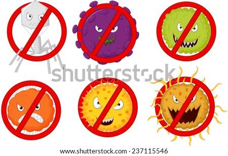 Stop virus - stock vector