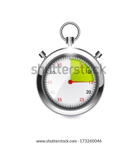 Stop watch. Vector