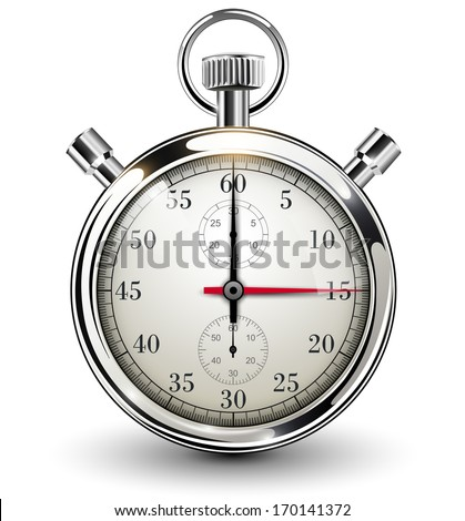Stop watch, vector illustration - stock vector