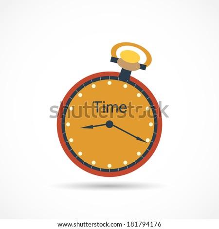Stopwatch, Analog - stock vector