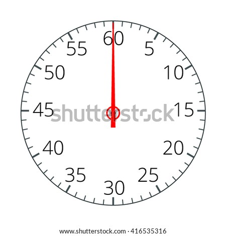 Stopwatch Flat 3d vector illustration - stock vector