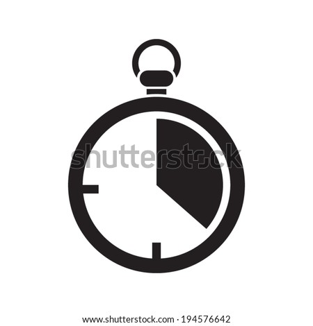Stopwatch icon, vector illustration. Flat design style  - stock vector