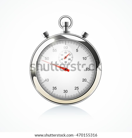 Stopwatch - isolated on white, vector illustration