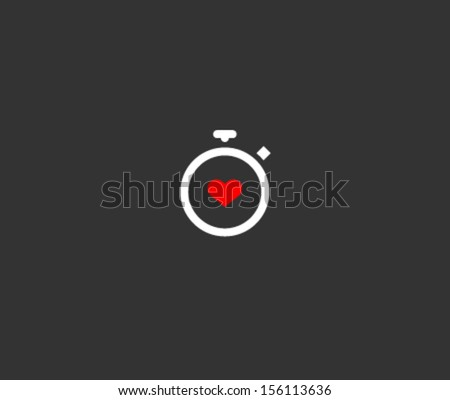 Stopwatch symbol - stock vector