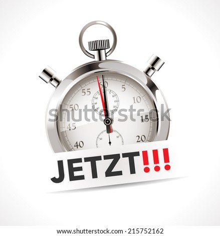 Stopwatch - The time is now - German