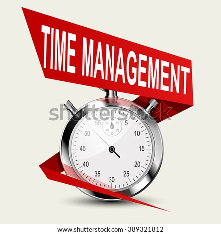 Stopwatch - time management concept. Business concept illustration - stock vector