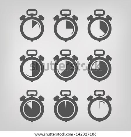 Stopwatch. Vector illustration - stock vector