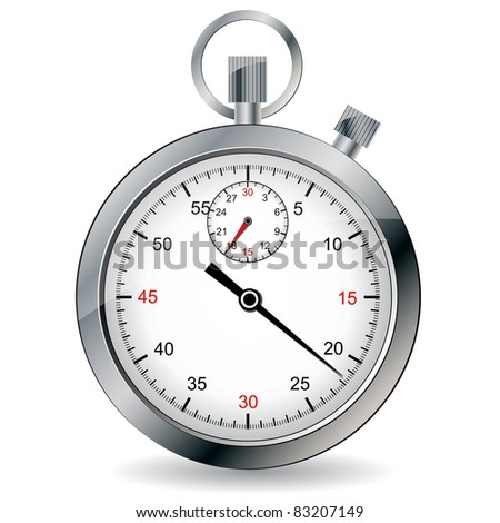 Stopwatch. Vector illustration. - stock vector