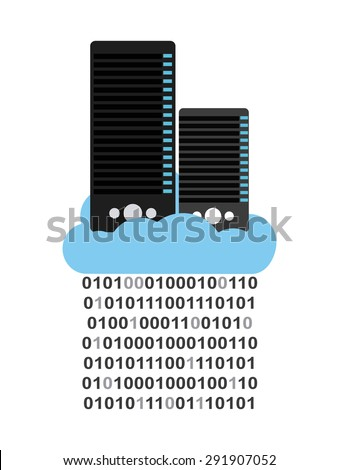 storage device design, vector illustration eps10 graphic  - stock vector