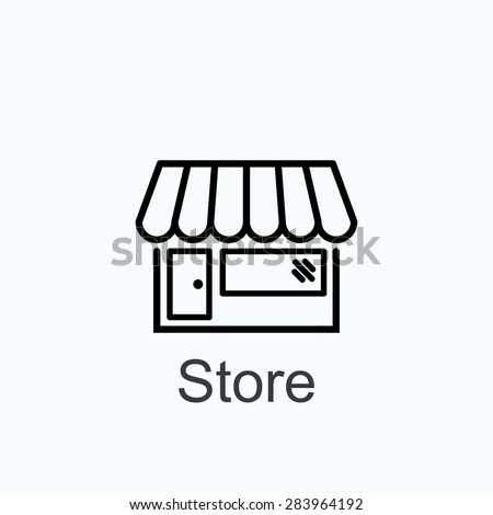 store icon - stock vector