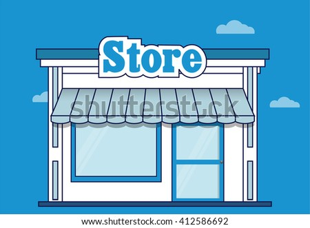 Store icon. Shop icon. Flat design. Vector illustration - stock vector