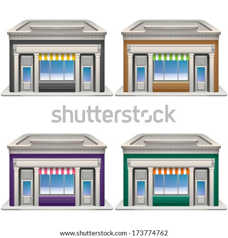 Store icons set. Vector eps 10. - stock vector