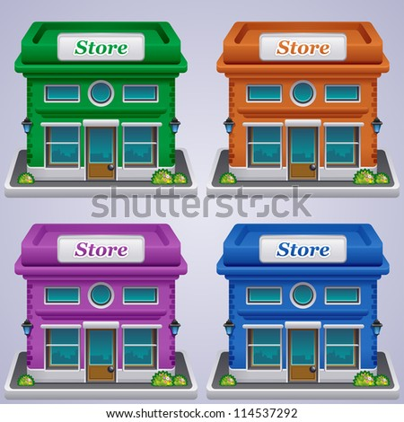 Store set icons. Shop icons collection. - stock vector