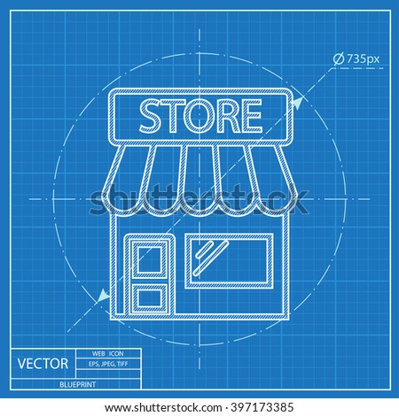 Store vector blueprint icon stock vector 397173385 shutterstock store vector blueprint icon malvernweather Choice Image