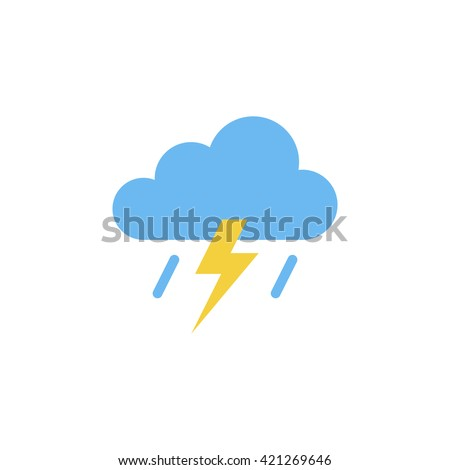 Storm Icon in trendy flat style isolated on grey background. Rainstorm symbol for your web site design, logo, app, UI. Vector illustration, EPS10. - stock vector