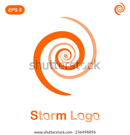 Storm logo concept, 2d flat illustration, vector, eps 8 - stock vector