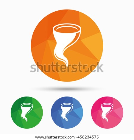 Storm Sign Icon Gale Hurricane Symbol Stock Vector 458234575