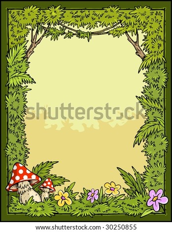 Story book - Forest border and background