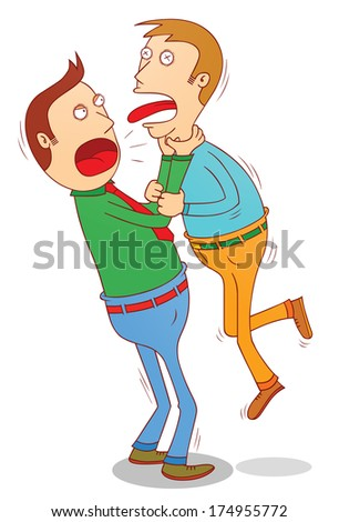 Strangling other - stock vector