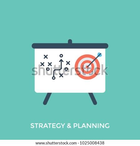 strategic planner illustration strategic planning board