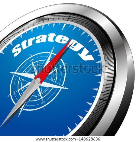 strategy compass  - stock vector