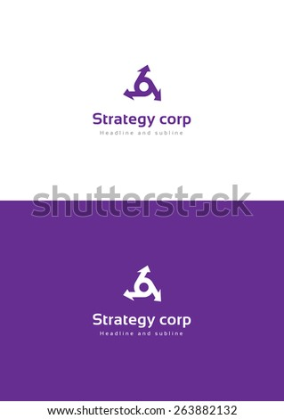 Strategy corporation logo teamplate. - stock vector