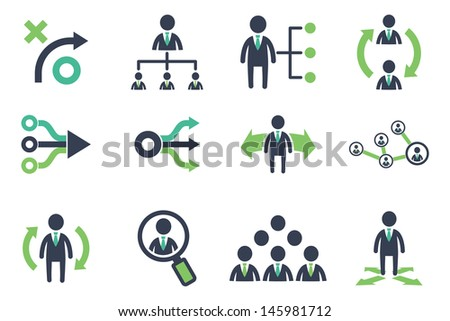 Strategy icons set - stock vector